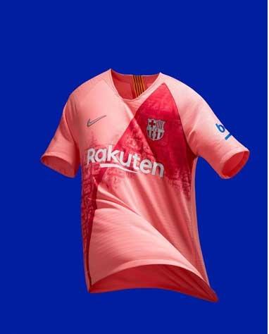 پیراهن جدید باشگاه بارسلونا