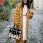 مدل مانتو بافت پاییزه برای خانم های جوان